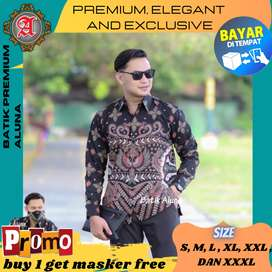 Batik Pria Lengan Panjang Premium Kantor Kado Pesta Kantun Solo THr86
