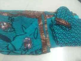 Sari blouse and petticoat