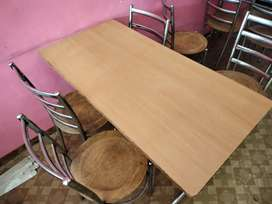 Set of chair table counter gas chulla