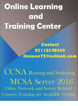 CCNA,MCSA Complete Online Training Available