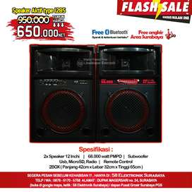 Speaker aktif 12inchi double subwoofer FREE ONGKIR & FREE BLUETOOTH