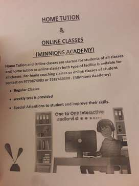 HOME TUTIONS AND ONLINE CLASSES