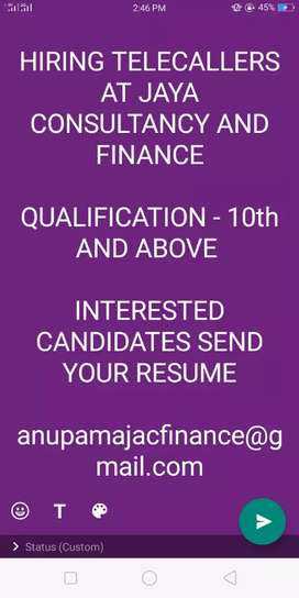 Telecaller at Jaya Auto  Consultancy And Finance
