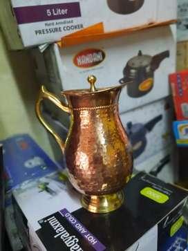 Copper Maharaja jug