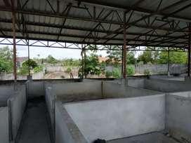 Jual tanah plus bangunan untuk mess karyawan jl. Laut sungai liat