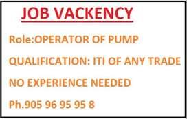 operator of pump