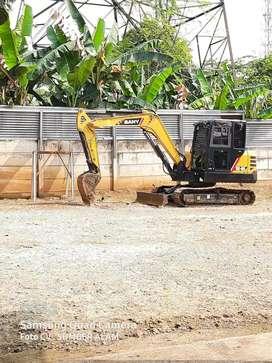 Rental excavator cut and fill land clearing pengurugan stripping beko