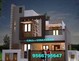 FABULOUS,TRENDY Villa for sale at VADAVALLI (65 Lakhs)--Vinayagam