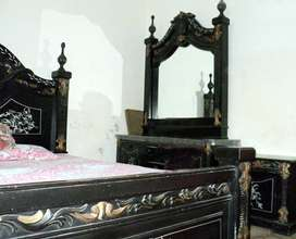Double Bed, Pot showcase and Sofa Set