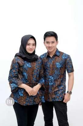 Couple batik kemeja dan bluos