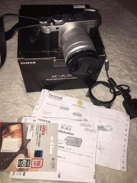 Kamera mirrorless murah fujifilm XA3 baru dipakai 2 bulan