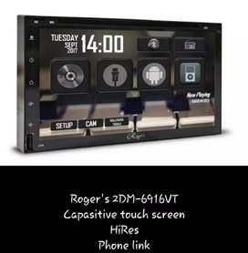 HU double din rogers layar fullglass, kamera, pasang