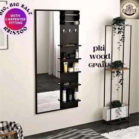 Wall hanging dressing table and mirror