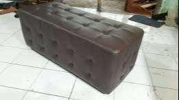 Erafurniture*sofa LONG hitam motif tarik benang keliling