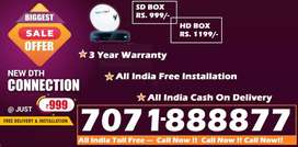 Tata Sky DTH Connection- D2h Videocon Tatasky Dish airtel tv airteltv