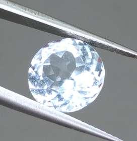 Permata Batu White Topaz Putih Kristal kode B232