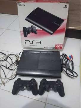 PS 3 Superslim 320gb upgrade 500gb full game Nego Alus