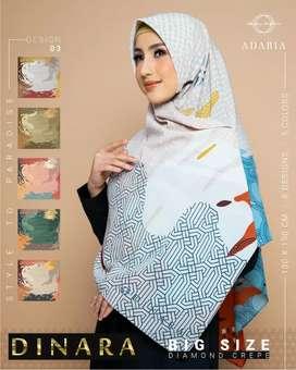 Jilbab segi empat motif syar'i ukuran 130*130