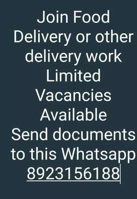 Food delivery Jobs Available