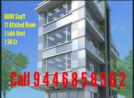 Kottayam Town Near 6000 Sqft 17  Room 1.50 Dr Call 9,4,4,6,8,5,8,5,6,2