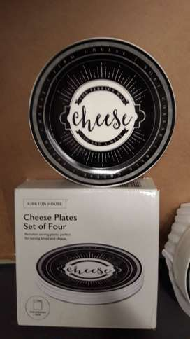 UK Imported KIRKTON HOUSE Cheese Serving Plates Plates set of 4