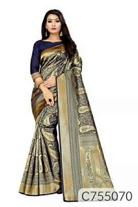Soft Silk Jacquard Weaving Banarasi Saree