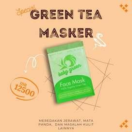 Baby Green Masker - Masker Teh Hijau - Masker Kecantikan