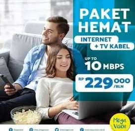Internet+tv murah stabil harga flat
