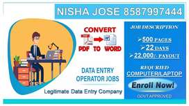 Payment Guarantee Income Data Entry Part Time