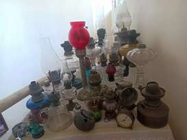 Collection of old lamps for sale