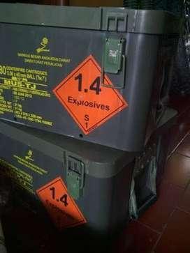 Box Kotak Peralatan Survival Fiber ori TNI Tactical Militer Green Army