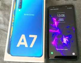 Selling my Samsung a7 4gb ram and 64 gb rom blue color triple camera