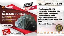 B-GARD Ceramic Plus Kaca film Tolak Panas IRR 97% High Vision Clarity