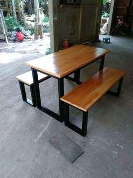 Set meja kursi usaha kuliner hemat