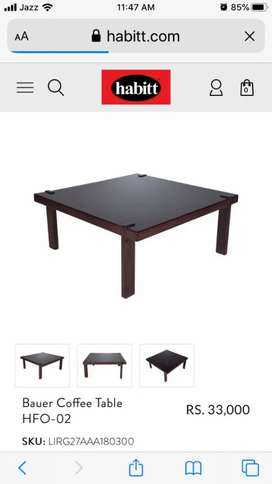 Coffee table with 2 side tables from Habitt