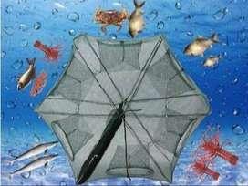 Fishing Net Trap Cage 6 Lubang-Payung Perangkap Bubu Jaring Jala Ikan