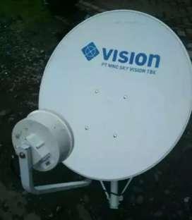 Pasang Indovision Mnc Vision Family Pack tv bayar 4 bonus 2 bln