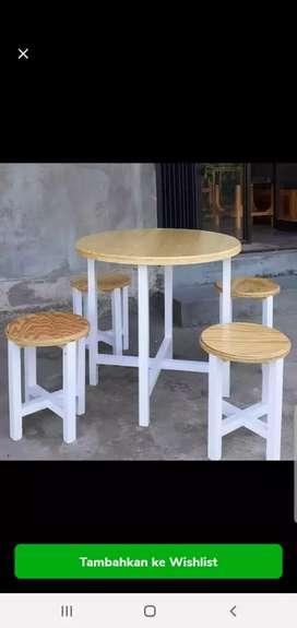 1 set meja kursi meja cafe kursi bar kursi cafe kedai murah bandung