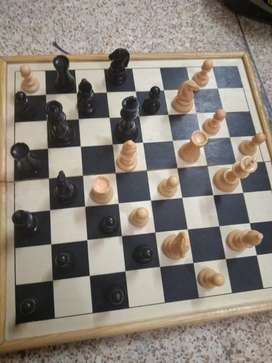 Full wood chess set big size in good rate 2500 with checkers