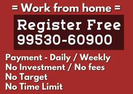 Hiring people for Data entry work/work from home near mehdipatnam