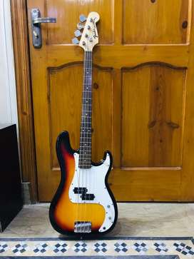 Fender precision bass guitar almost new with bag