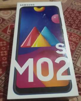 Brand new Samsung galaxy M02s with tempered and 1 year of Insurance