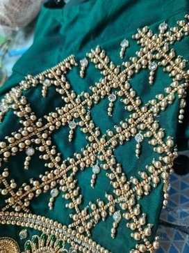 Aari work blouse  striching and teaching