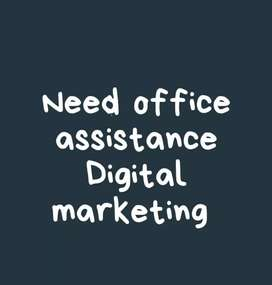 Full time/Part time/Contract-Digital marketing/office assistant/
