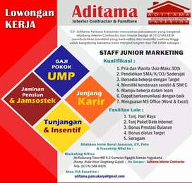 Lowongan Junior Marketing Interior Contractor
