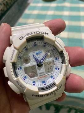 G shock GA 100a white