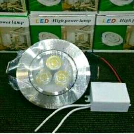 Lampu Led Downlight 3W / 3 mata Led (Ceiling Light) - Good Quality