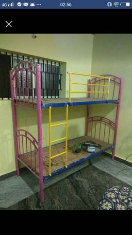 Multicolored Steel Bunk Bed Frame own manufacturing factory