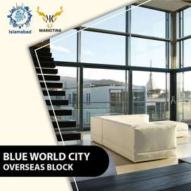 7 Marla Plot on easy Installment - Blue World City (MK Marketing)