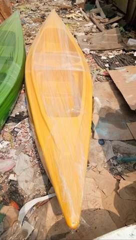 perahu kano warna kuning,perahu air,perahu dyung,perahu kayuh ready